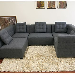 Trying To Figure Out What Color Area Rug To Get That Will Match My Dark Grey Sofa Modern Sofa Sectional Grey Sectional Sofa Sectional Sofa