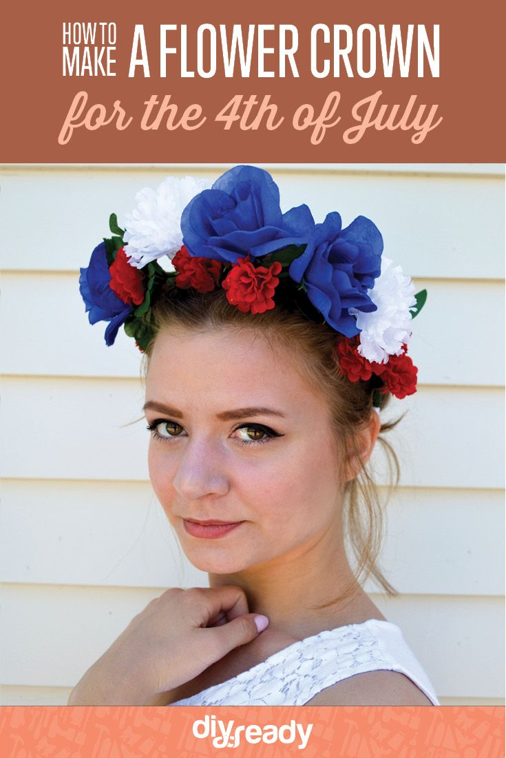 How to make a flower crown for the holidaysseasons pinterest check out how to make a flower crown for the 4th of july http izmirmasajfo