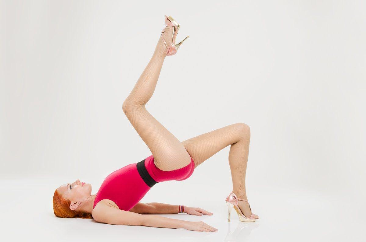 фотосессия гимнастки на каблуках