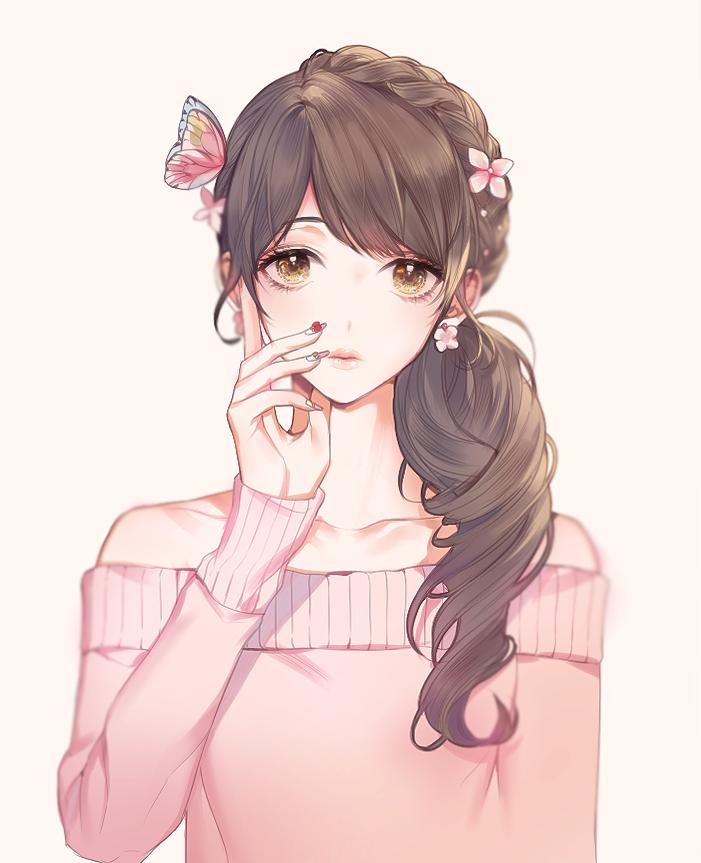 Pin by кεη∂яα sεηραι on Anime Girls (Brown Hair