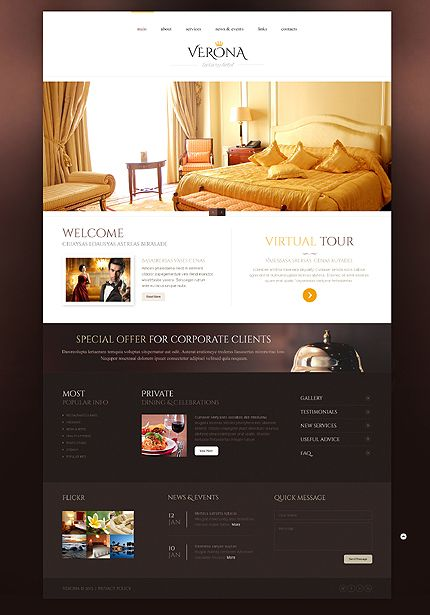 Hotels Responsive Website Template Gui Web Corporate