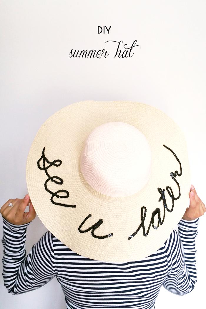DIY :: Sequins Beach Hat with Joe Fresh