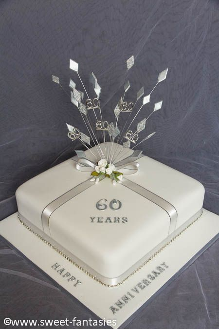 60th Anniversary Cake Diamond Wedding Anniversary Cake 60