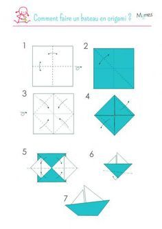 Un Voilier En Origami Vaikams Origami Origami Sailboat Et