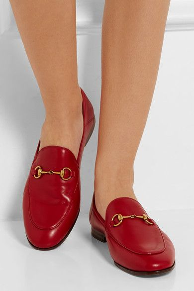 ec443824e7d967 Gucci horsebit loafers in red. Heel measures approximately 10mm  0.5 inches Red  leather Slip on Made in Italy