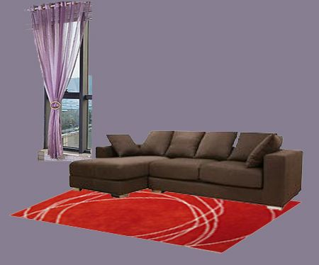 Brown And Peach Furniture Red Curtains Chocolate Rugs