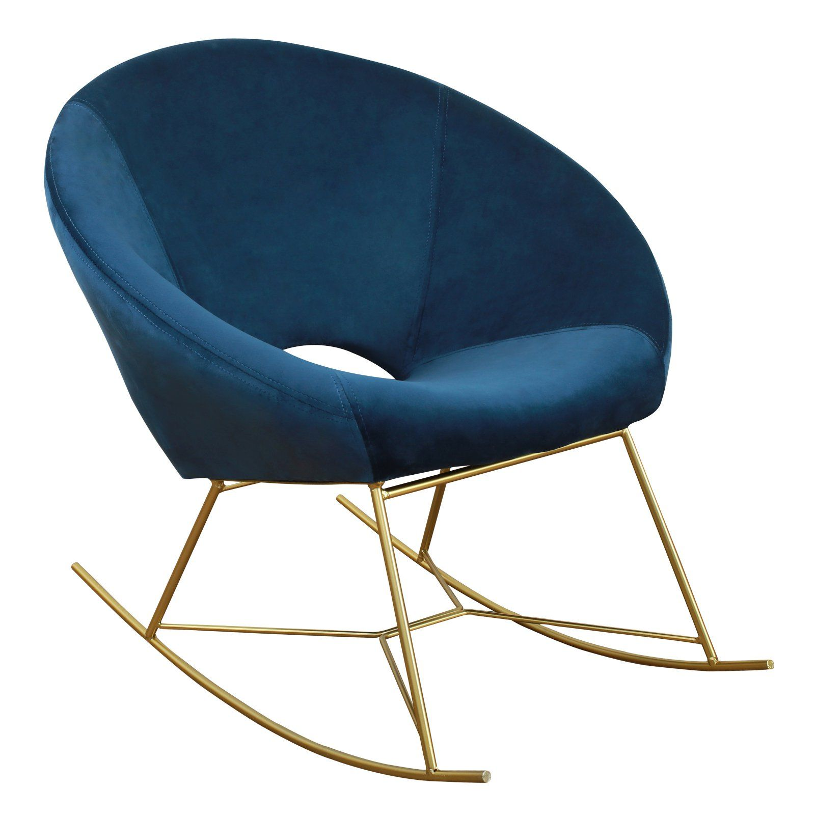 Rocking Accent Chairs Tov Furniture Nolan Velvet Rocking Accent Chair Navy Products In