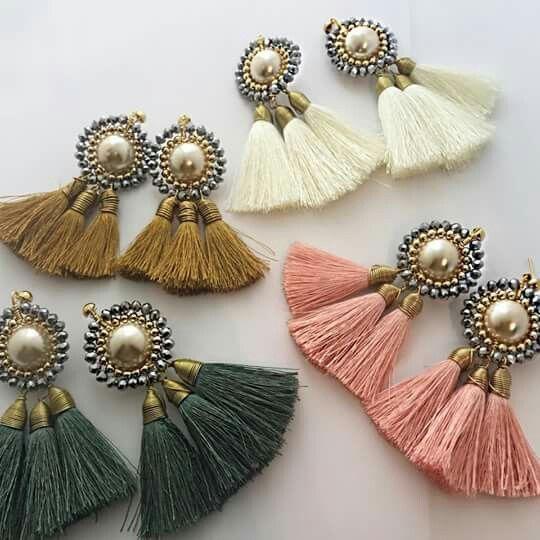 earrings jewelry i tassels silk thread and