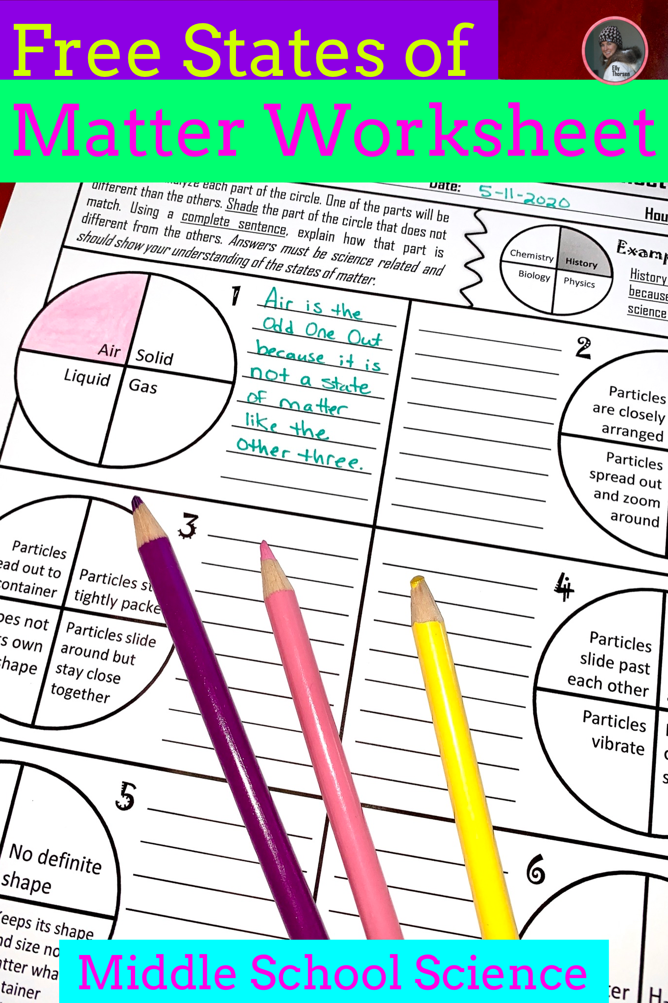 hight resolution of Comprehension Worksheets States Of Matter   Printable Worksheets and  Activities for Teachers