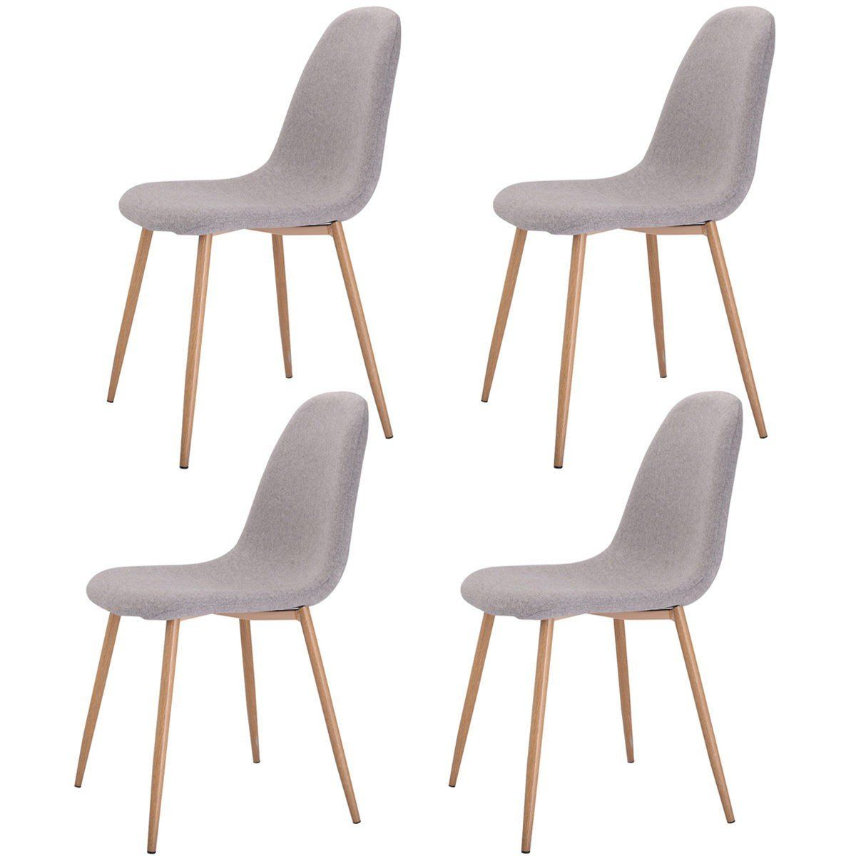 Can I Use An Accent Chair For A Dining Chair: Set Of 4 Gray Accent Dining Chairs