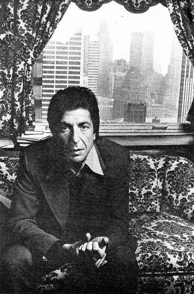 Leonard Cohen   Photo from Loners and Other Strangers by Paul Nelson. Rolling Stone, Feb 27, 1975.