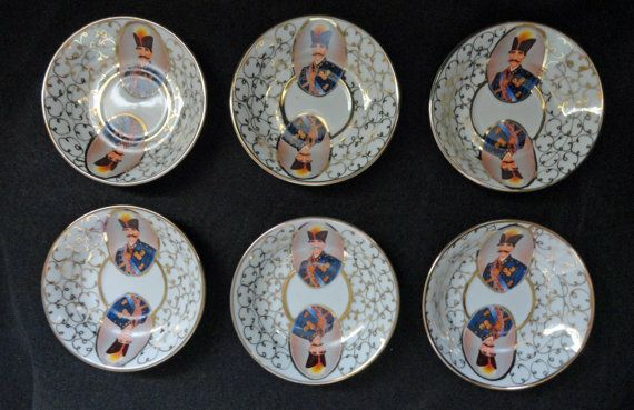 Vintage Lot 6 Chinese Armorial Porcelain by ArtsCollectiblesbyKT, $49.00