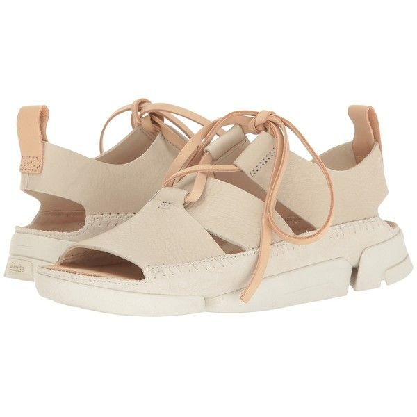 b4cb77896a9dfd Clarks Trigenic Honey (Off-White Nubuck) Women s Sandals ( 120) ❤ liked on  Polyvore featuring shoes