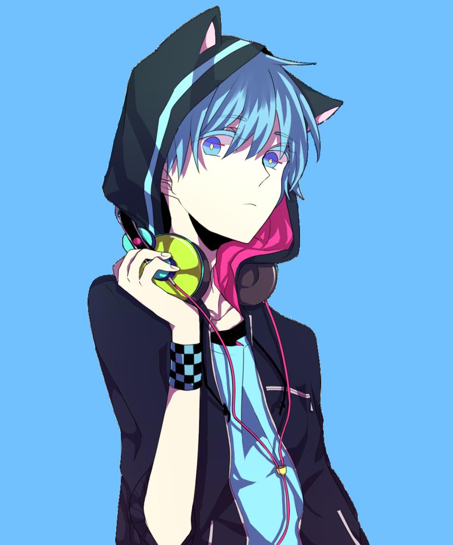 Teen Neko Boy BlueHaired Boy's Pinterest Neko, Neko