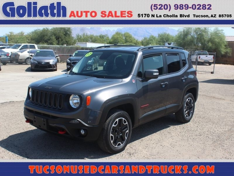 2017 Jeep Renegade Deserthawk 4x4 Goliath Auto Sales Llc Dealership In Tucson Cars For Sale Jeep Renegade Car Dealership