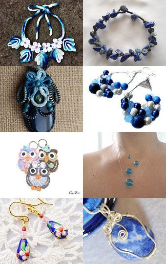 Deep Blue Sea: Jewelry for Mom by Pauline McEwen on Etsy--Pinned with TreasuryPin.com