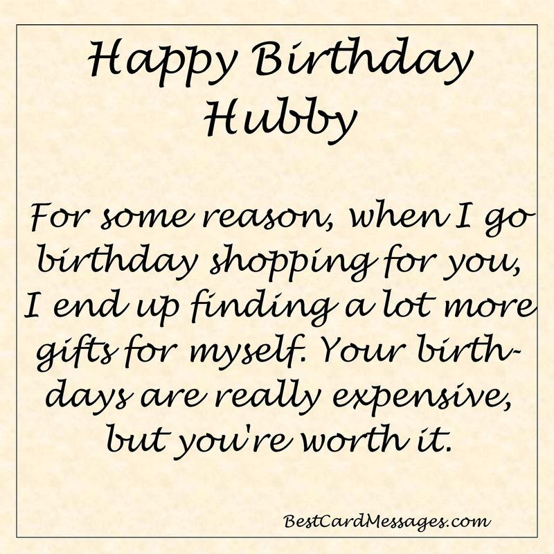 Funny Birthday Message For Your Husband Birthday Wishes Husband