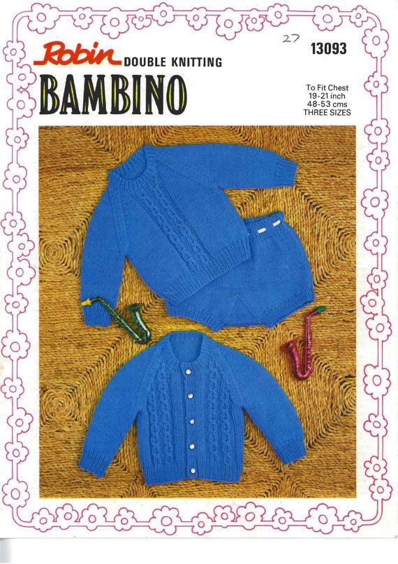 SUMMER SALE  Robin 13093 Vintage PDF Pattern Baby by Newandold1