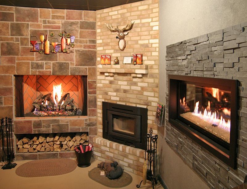 Electric fireplaces and Stone electric fireplace