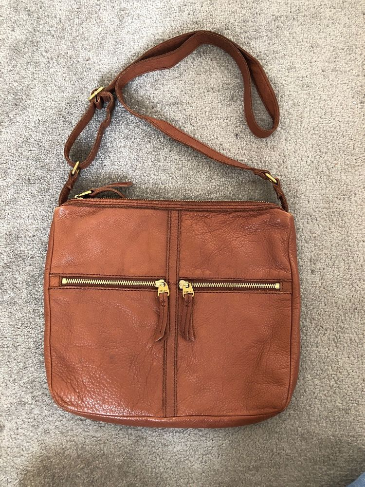Gorgeous Tan Leather Handbag Cross Body With Adjule Strap U K Only Please Payment Immediately
