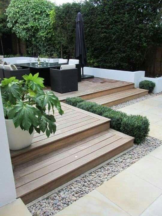 Bonita Terraza de madera Casa de playa Pinterest Terrazas de - terrazas en madera