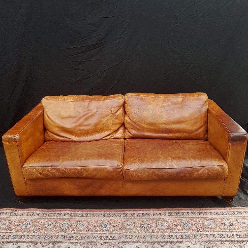 Molinari Leren Bank.Cognac Neck Leather Sofa By Molinari 1980s Leather Sofa Comfy