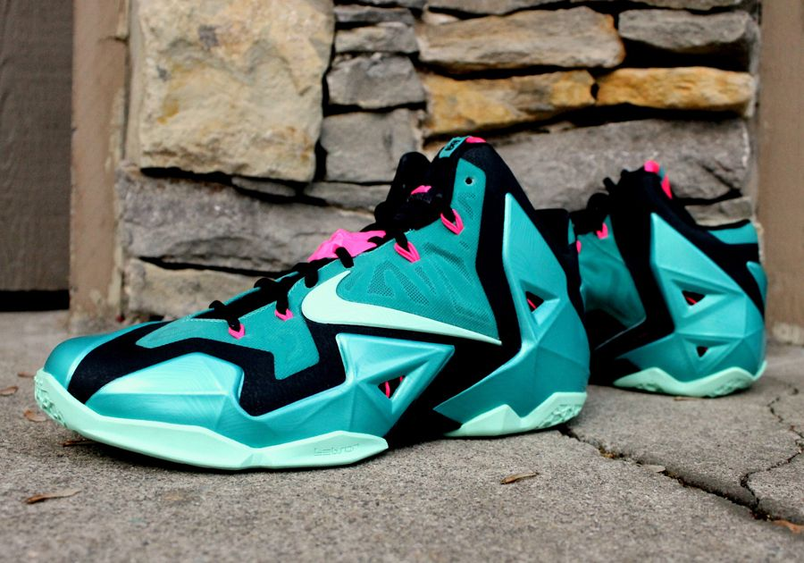Authentic Nike Lebron 11 South Beach for sale online free shipping. http://