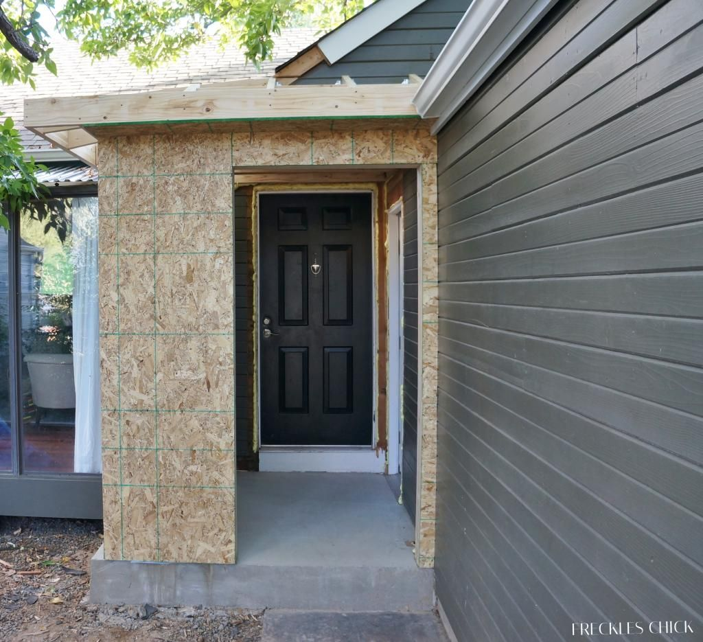Small Enclosed Front Porch Entry: Moving Along On The Mini Mudroom (Someone Else Who