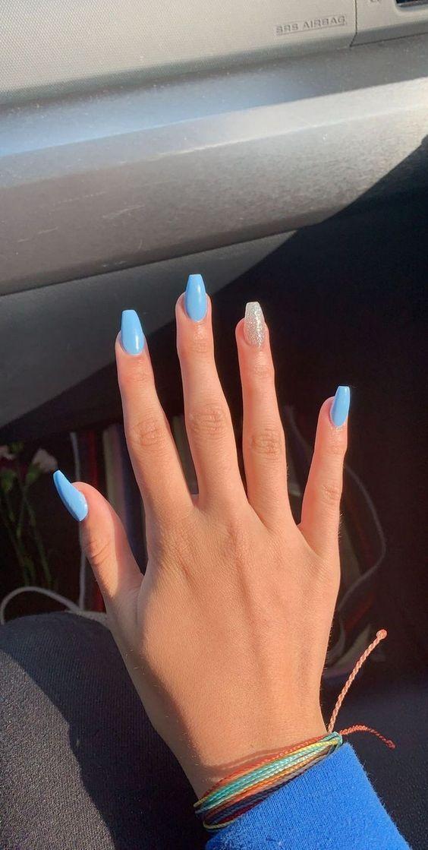 Best Nail Polish Colors For Olive Tan Light Medium Skins Blue Acrylic Nails Best Acrylic Nails Yellow Nail Art