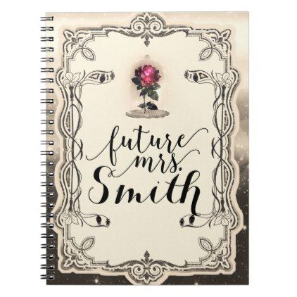Enchanted Magical Storybook Red Rose Future Mrs Notebook
