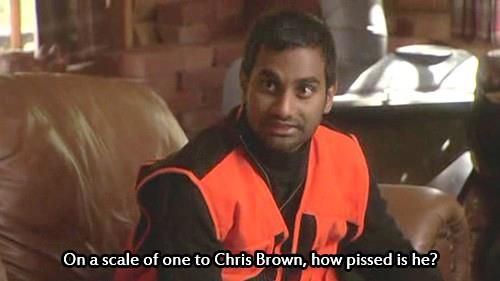 On a scale of 1 to Chris Brown...