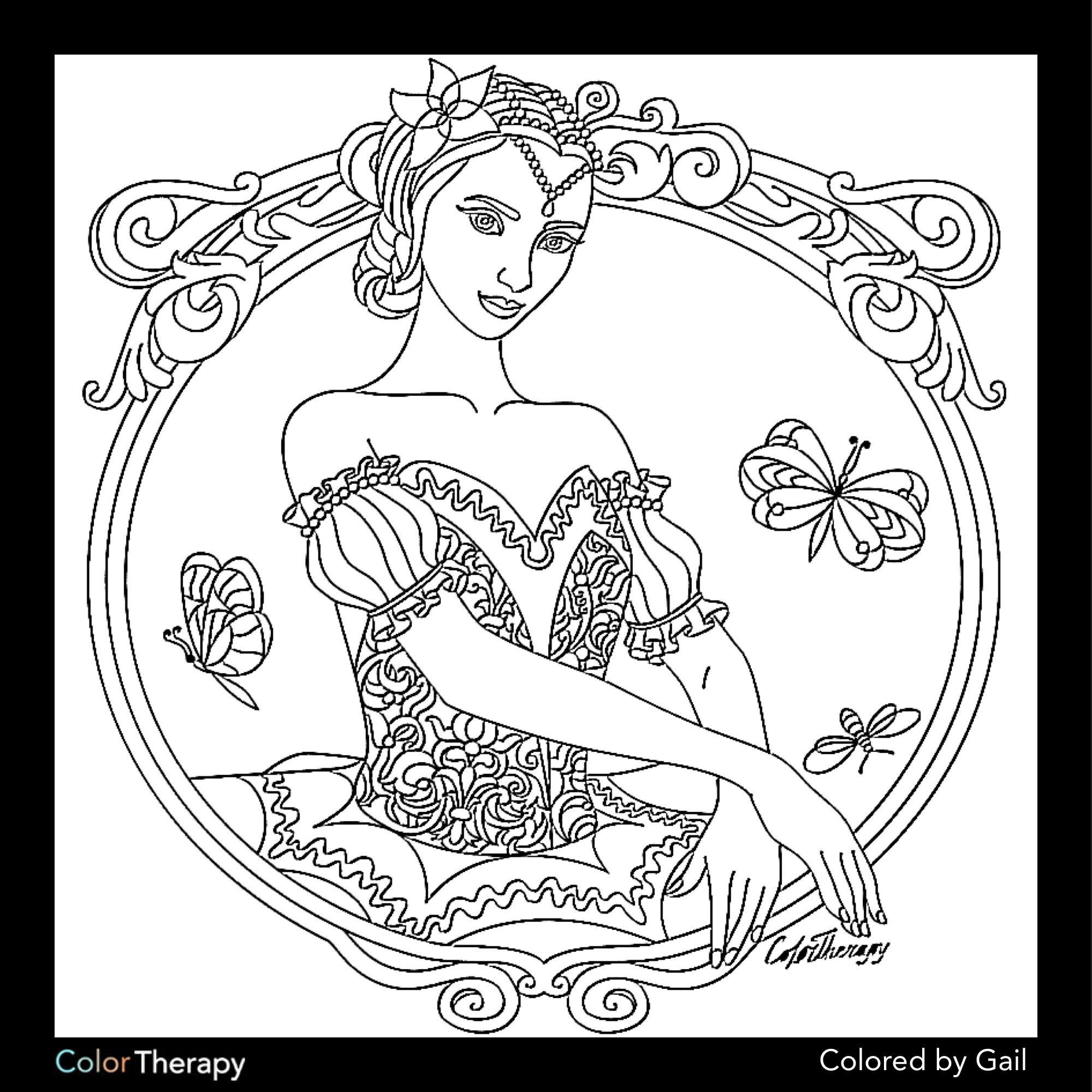 I colored this myself using Color Therapy App. It was so ...