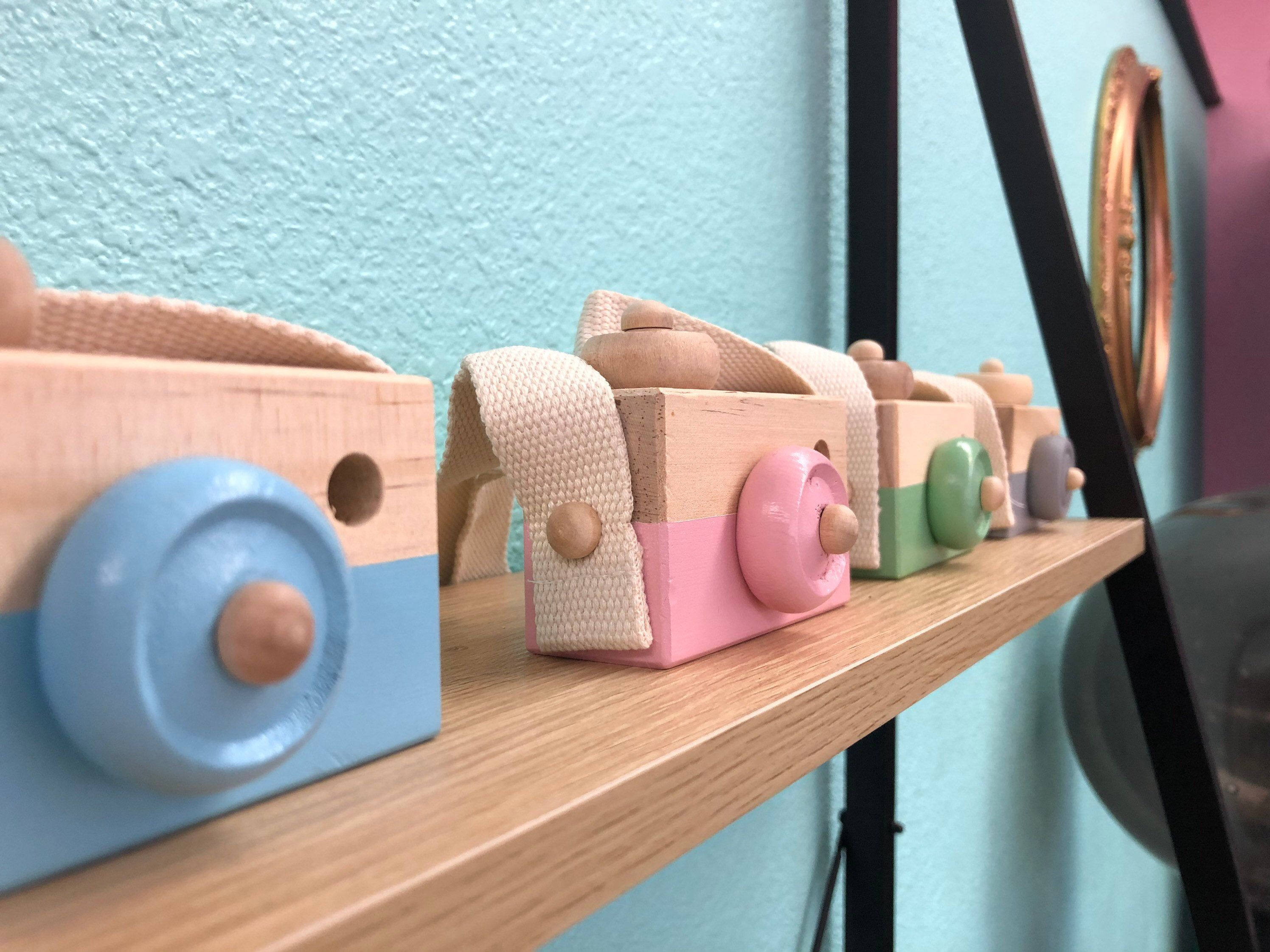 Hipster Kid Camera Toddler Toy Wooden Pink Mint Gray ...