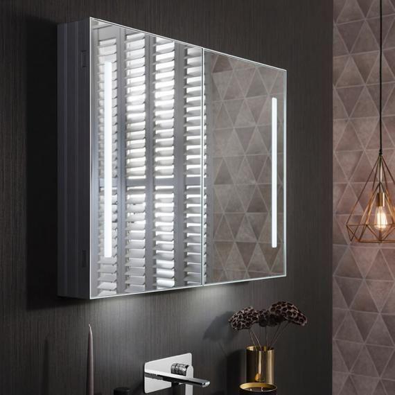 Bauhaus Allure 900mm Led Illuminated Mirrored Cabinet Mirrored