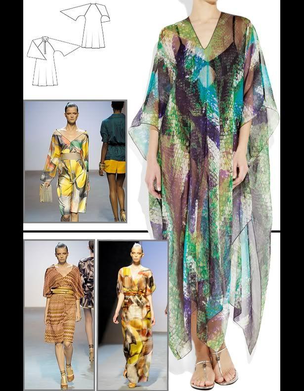 Caftan maxi dress pattern