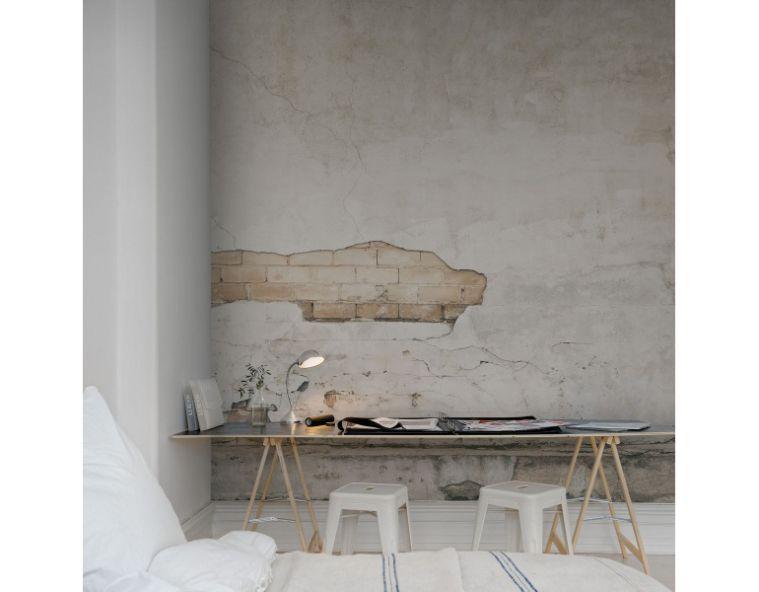 werken met behang in een industrieel interieur walls pinterest