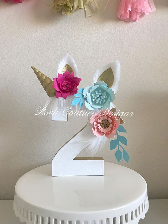unicorn floral centerpiece unicorn floral number unicorn photo prop unicorn birthday party. Black Bedroom Furniture Sets. Home Design Ideas