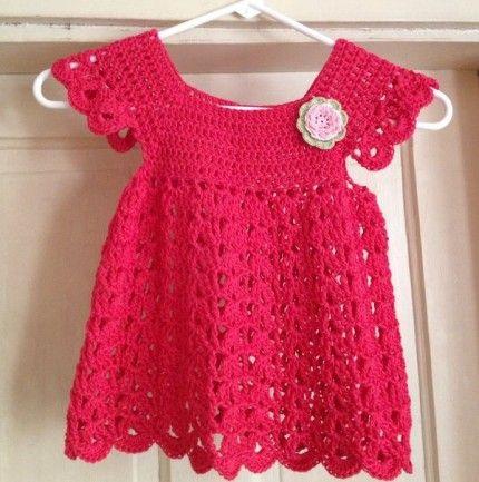 Crochet For Children: Angel pop-over dress - Free pattern   Paz y ...