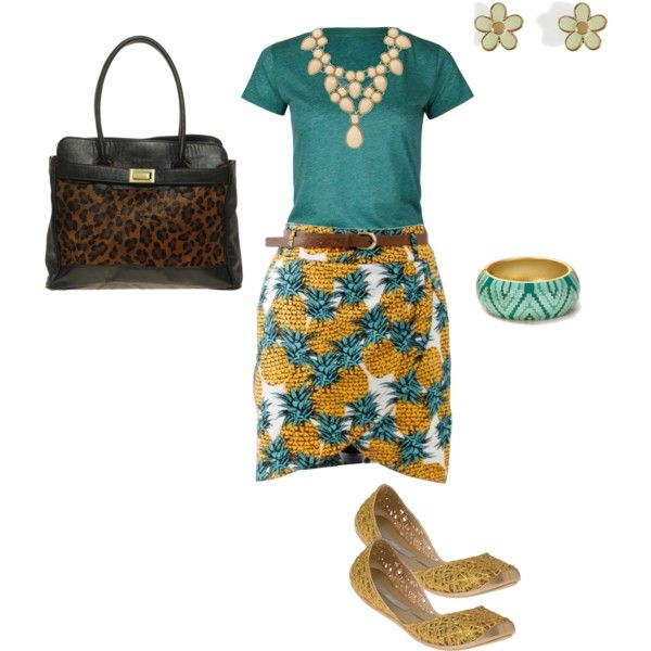 Mixing patterns. Cute!