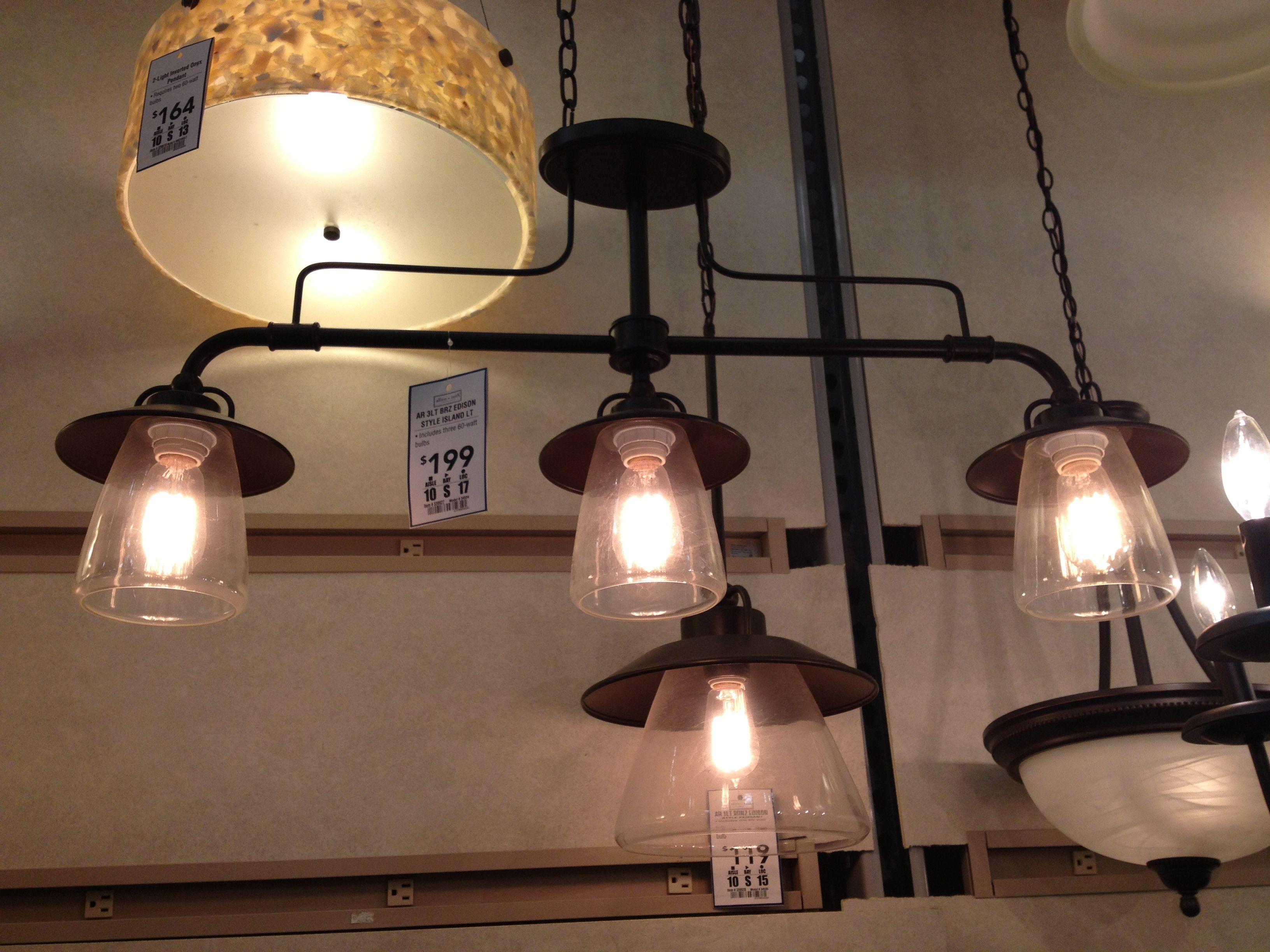 #edison Light Fixtures - Kitchen? #lowes