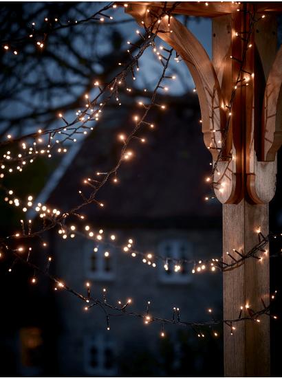 Outdoor Twinkle Lights Lit wallpaper, Twinkle lights