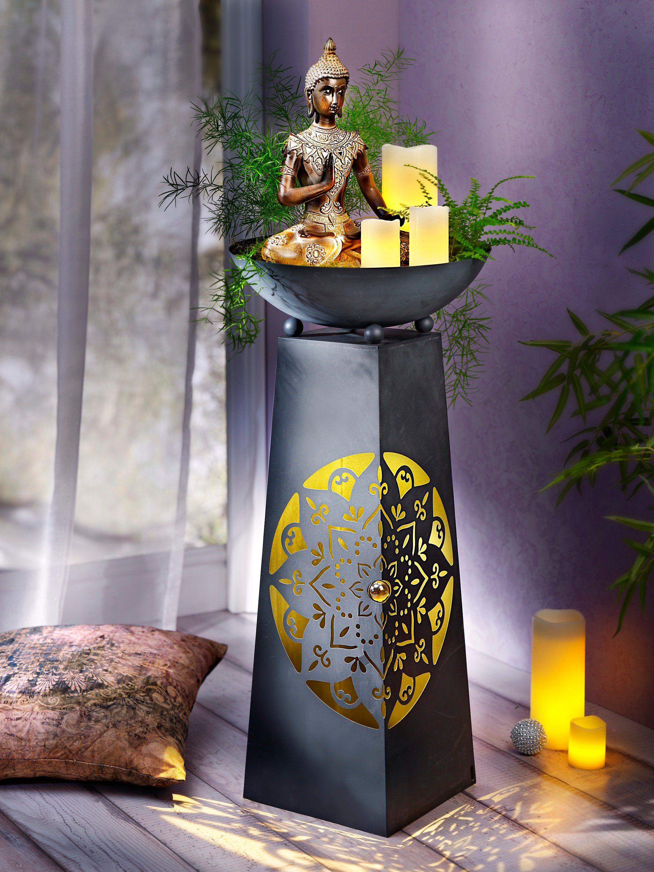 Pflanzsaule Mandala Mit Beleuchtung Bestellen Weltbild De Beleuchtung Pflanzen Pflanzensaule