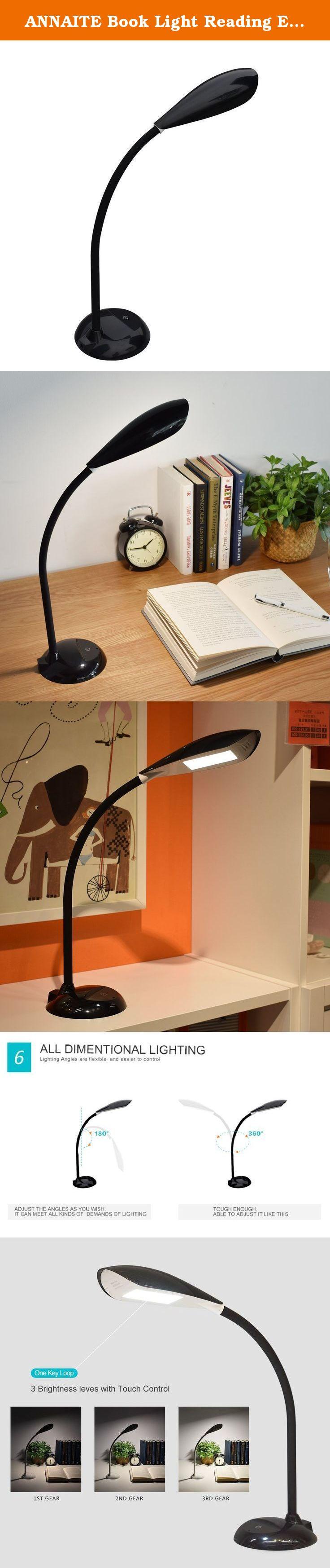 annaite book light reading eye caring led desk lamp touch control