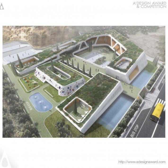 Compass School In Crete Bioclimatic European School Complex By Officetwentyfivearchitects O25