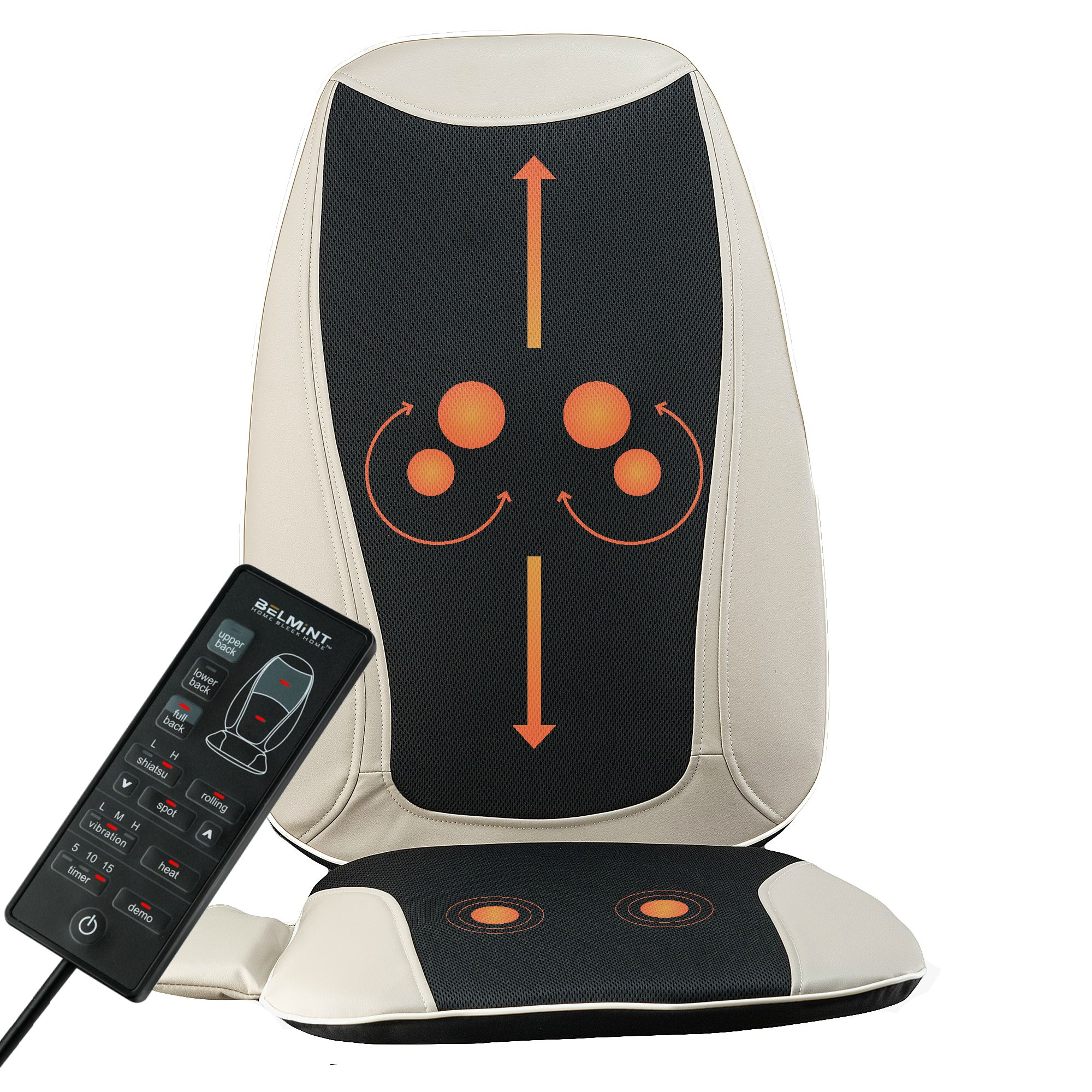 Belmint Seat Cushion Massager With Shiatsu Vibration And Heat Walmart Com In 2020 Shiatsu Massage Chair Shiatsu Massage Back Massager