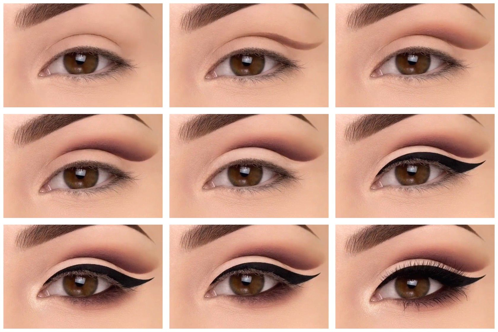 Eye makeup tutorial step by step instructions for cut crease