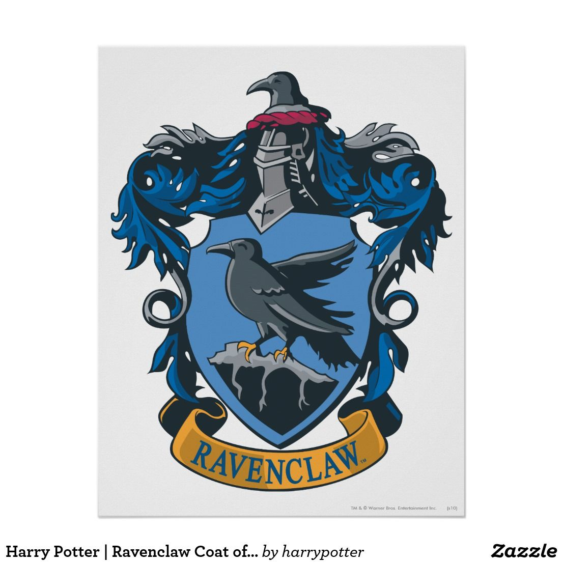 Harry Potter Ravenclaw Coat Of Arms Poster Zazzle Com Harry