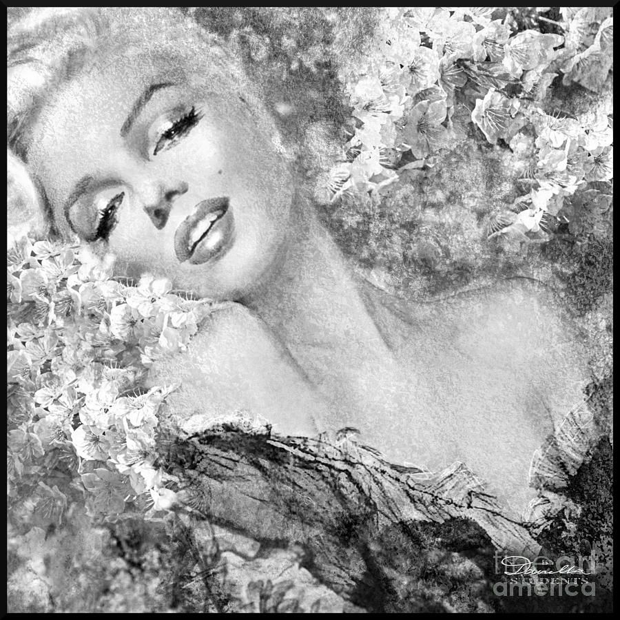 Marilyn Cherry Blossom Bw By Theo Danella Marilyn Monroe