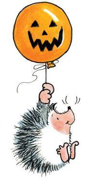 New Penny Black FRIGHTFUL FLIGHT Rubber Stamp Halloween Balloon Jack O/'lantern