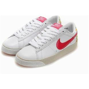 Women Nike Blazer Low Grey White Red Shoes
